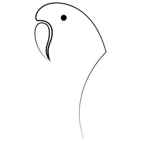 One line parrot design silhouette. Hand drawn minimalism style vector illustration. Иллюстрация