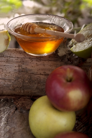 Honey and apples Stock Photo - 20177753