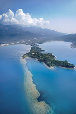 Island of Flowers near Tivat, Montenegro photo