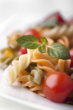maccheroni: Macaroni with vegetables