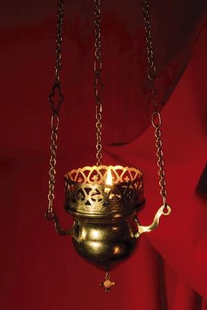 ortodox: holy lamp, ortodox Stock Photo