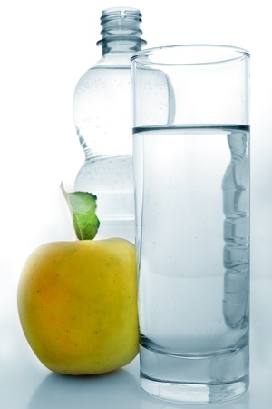 Water and apple photo