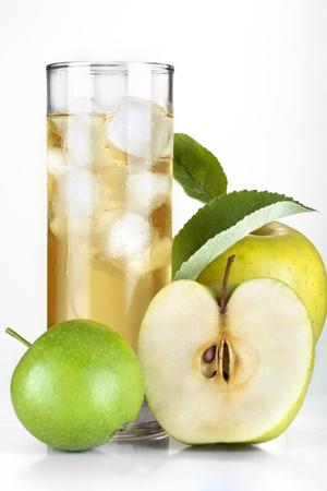 Cider and apple on ice