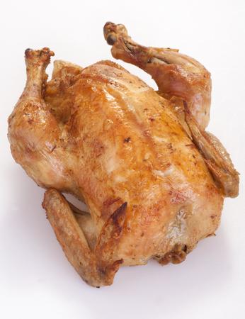 roast chicken on a white background photo