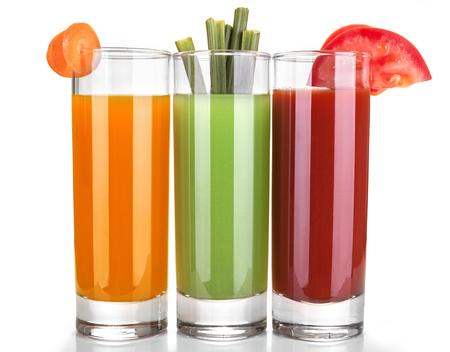 juice of carrots, celery and tomatoes Standard-Bild