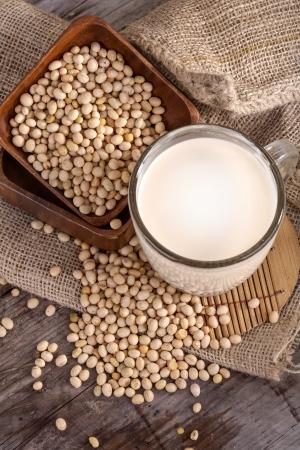 leche de soya: una parte importante de una leche de alimentos, de soja y de soja saludable