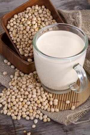 an important part of a healthy food, soy and soy milk Standard-Bild