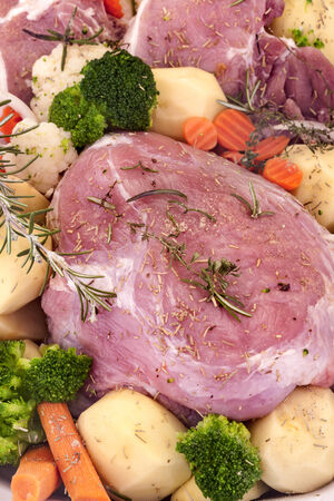 carnes y verduras: Carne con verduras Foto de archivo