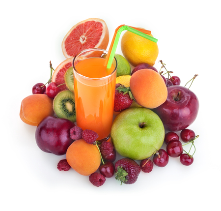 multivitamin: fresh healthy multivitamin juice with several fruits Stock Photo