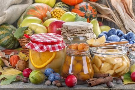 Preservation of healthy fresh fruit and vegetables Stock Photo