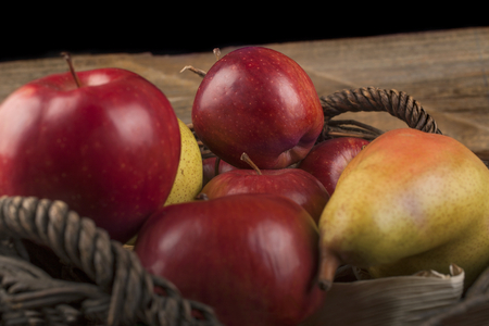 Organic apples grown in a local orchard, the concept of healthy food from autumn fruits Reklamní fotografie