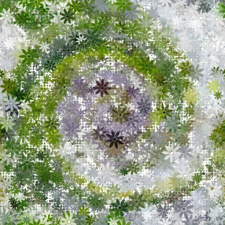 summerly: Summer garden abstract as an element of seamless tile or background