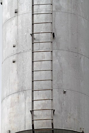 steely: Water tower close-up