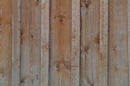 Old close boarded fence view. photo