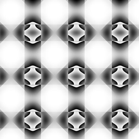 inimitable: With mostly black and white colours and gradients geometrical texture. Stock Photo