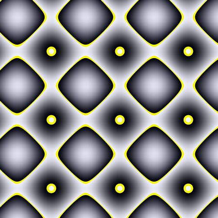inimitable: Black-white gradient pattern. Mostly with black-white gradients and yellow canvas geometrical pattern. Stock Photo