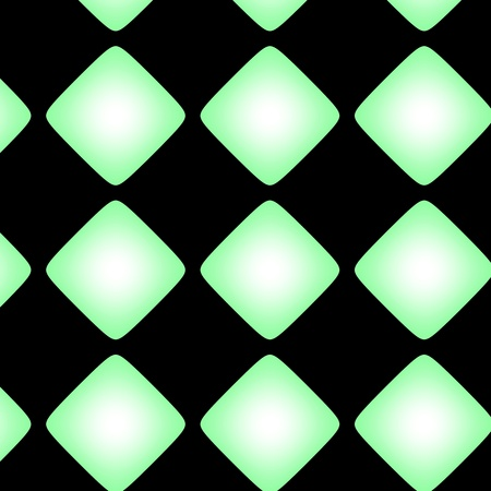 Squarish green gradient pattern. Very simple texture with green tone and gradient against the black background. photo