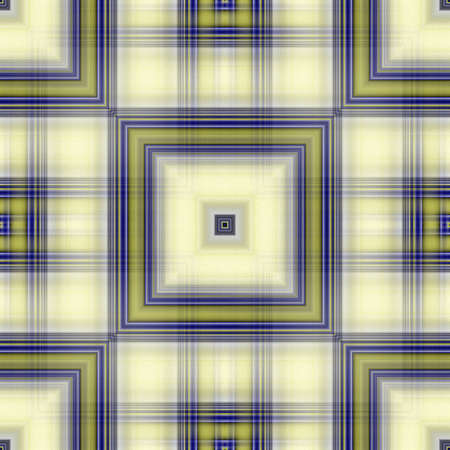 unmatched: Foursquare line-wise seamless abstract. Olive-violet lined boxy seamless tile-able embossed abstract as background-texture-wallpaper-pattern. Stock Photo