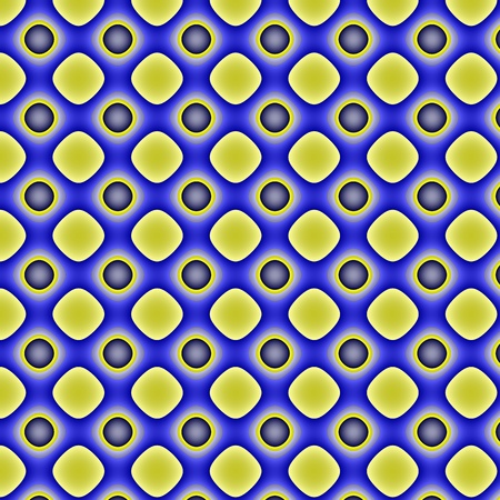 inimitable: Yellow-blue pattern.