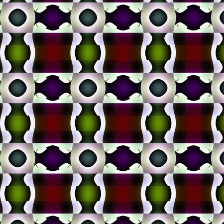 unmatched: Fanciful pattern or bizarre design. Curlicue with green, red, brown, violet and white tones and gradients transcendental texture-pattern-background-wallpaper. Stock Photo