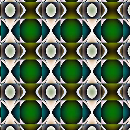 Non-figurative embossed fanciful pattern. Curlicue with green, brown, violet, blue and white tones and gradients transcendental embossed texture-pattern-background-wallpaper. photo