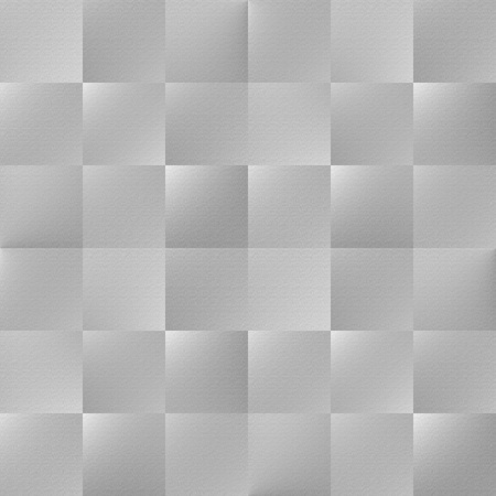 Foursquare seamless background  Seamless embossed tile-able grey coloured abstract wallpaper-background-texture-pattern  Stock Photo