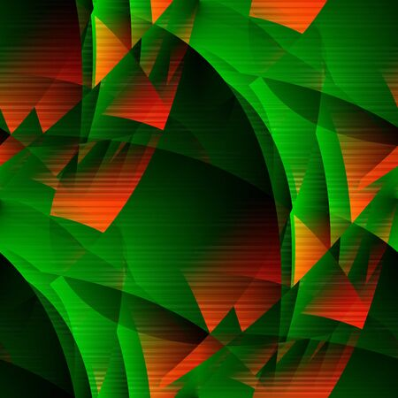 Green-fiery abstract. Seamless tile-able green-fiery transcendental lineated or ruled or banded  expressionistic background, wallpaper. photo
