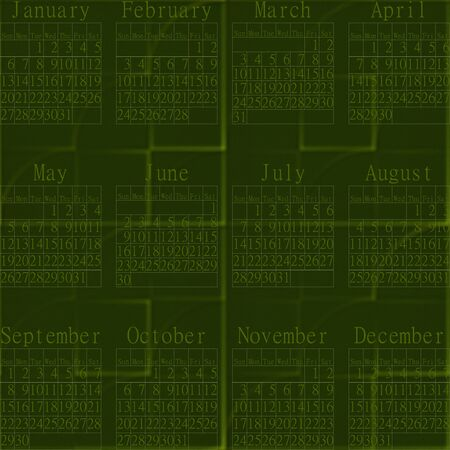 inconspicuous: 2013 green abstract calendar. Calendar year 2013 with abstract green fanciful sand-textured seamless background. Stock Photo