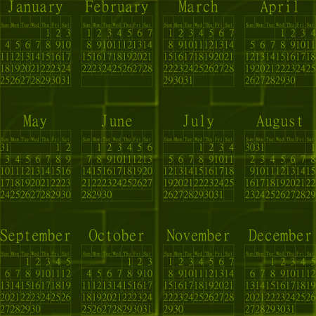 inconspicuous: Green abstractive seamless embossed background-calendar year 2015. Stock Photo
