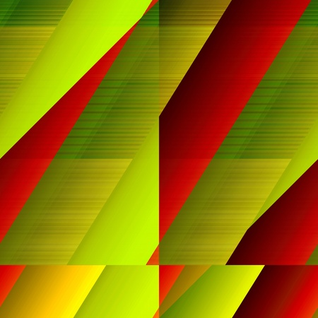 Ruled tiled pattern. Yellowy-green and red, tile-able colourful pattern. Vettoriali