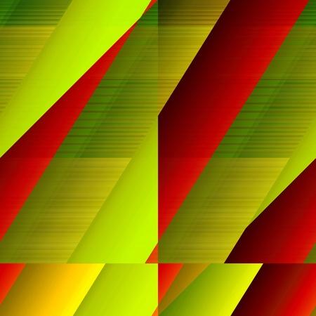 slantwise: Governata motivo a mosaico. Giallo-verde e rosso, in grado di tessere modello colorato.