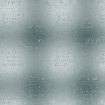 unmatched: Snowy seamless abstractive wallpaper about snowflakes against some window. Calendar 2015 in English.