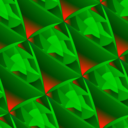 abstractive: Fiery through green. Abstractive graffiti pattern, embossed and seamless.