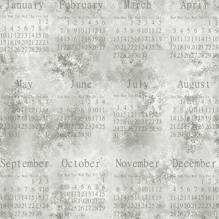 unmatched: Calendar 2016. Snowy seamless abstract wallpaper. Editorial