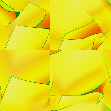 flamboyant: Jazzy yellowy seamless wallpaper. Embossed abstract flamboyant background.