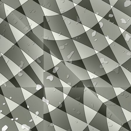 uneven: Sharp-cornered uneven abstract wallpaper with water drops. Stock Photo