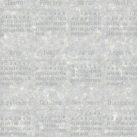 stellate: Seamless winter snowy frosty wallpaper-calendar 2016 in Spanish.