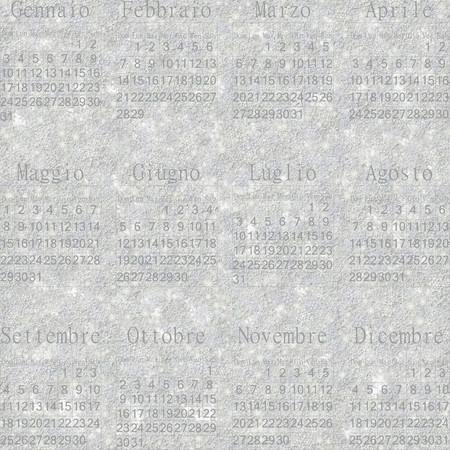 stellate: Seamless winter snowy frosty wallpaper-calendar 2016 in Italian.