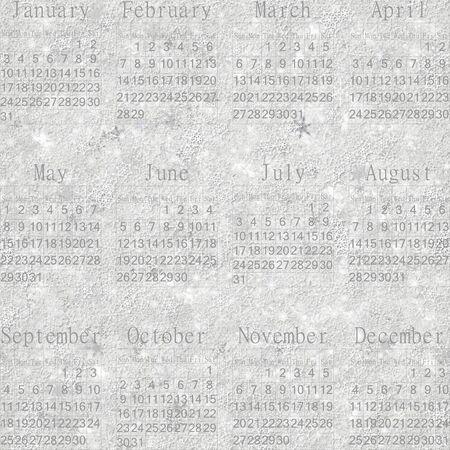 stellate: Seamless winter snowy frosty wallpaper-calendar 2016 in English.