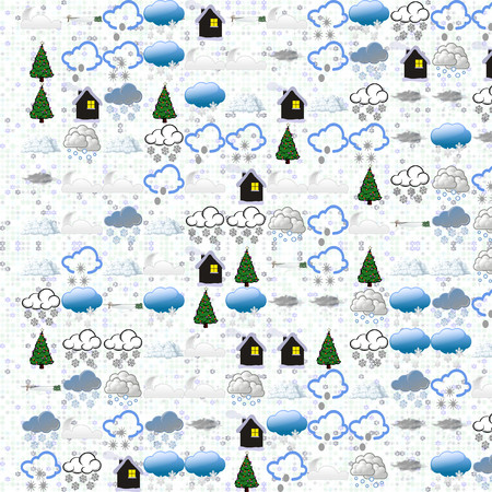 stellate: Winter abstract. Seamless tile-able winter Holiday background.