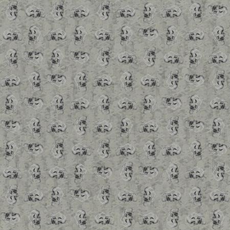 Modelo del cráneo. ornamento sin fisuras con los cráneos de la muerte openclipart.org contra la cabeza cruda y huesos sangrientos telón de fondo sin fisuras. Foto de archivo - 50539790