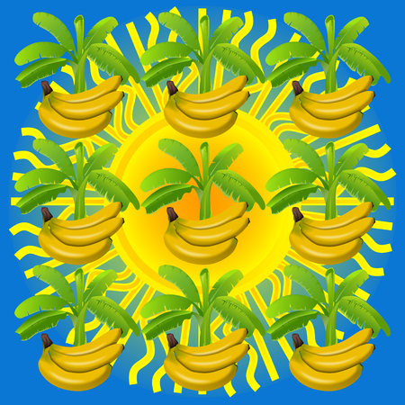 seamlessly: Banana seamlessly tiled pattern. Openclipart.org elements.