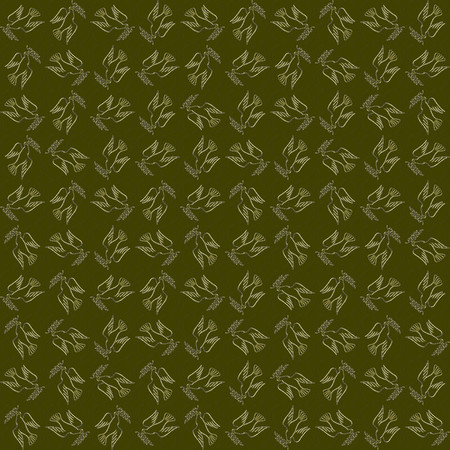 khaki: Peaceful conceptual pattern. Golden dove of peace against the green backdrop with laurels seamlessly tiled abstractive ornament. Concept. Made by means of openclipart.org elements.