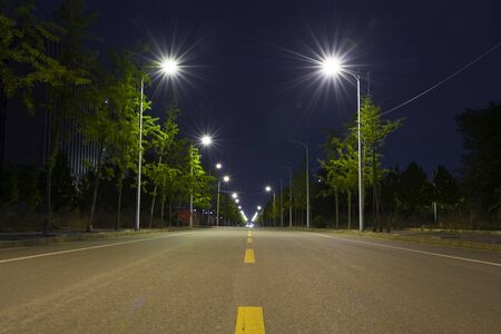 City Road in the street lights