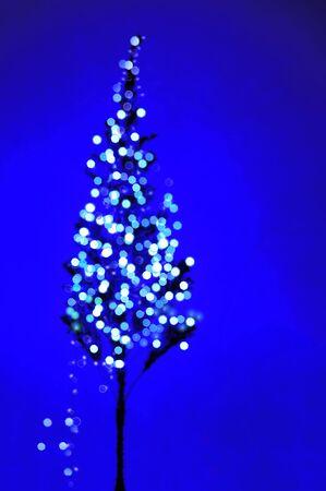 fake christmas tree: Virtual lights on the Christmas tree