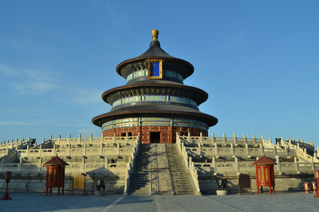 architectural tradition: Temple of Heaven in Beijing Editorial