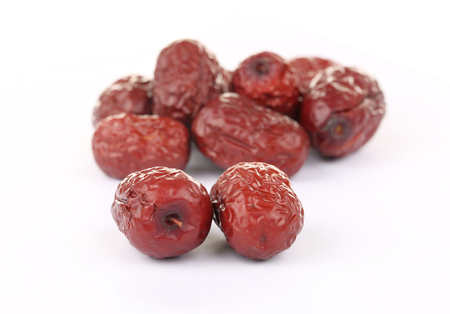 macro image: Isolated macro image of Chinese red dates.