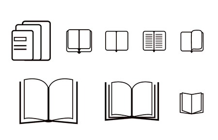 bookshelf digital: Book flat icons. Simple, Clear and sharp. Easy to resize. Illustration