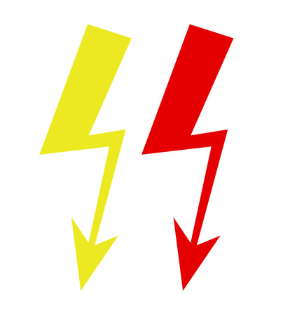 voltage sign: voltage sign on the white background Illustration
