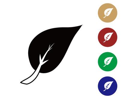 origins: Leaves Icon Flat Graphic Design - Illustration